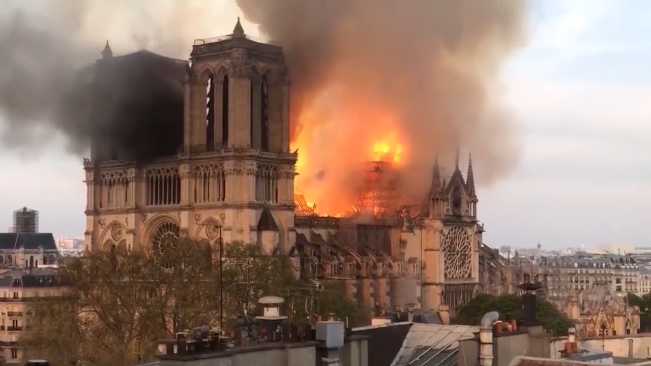 Fire Damages Centuries-Old Notre Dame Cathedral in Paris