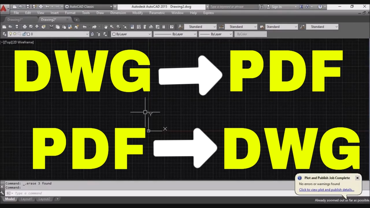 convert autocad file to pdf