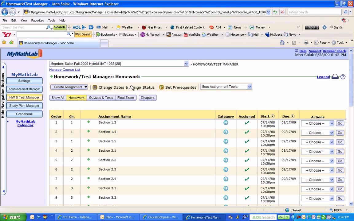 answers course compass homework