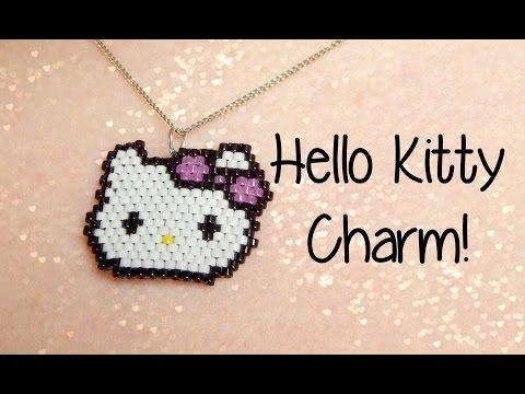 DIY Hello Kitty Seed Bead Brick Stitch Charm How To! ¦ The Corner Of Craft