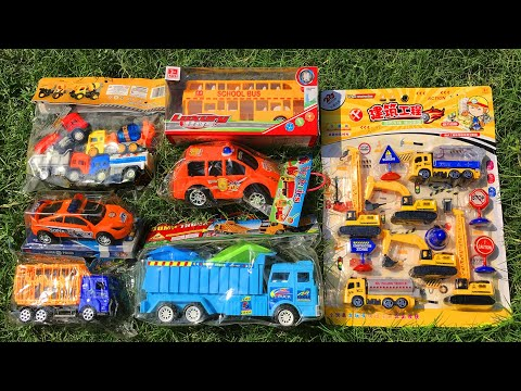 Video about Searching and Unboxing Brand New Toys | Construction Vehicles, School Bus, Cars, Trucks