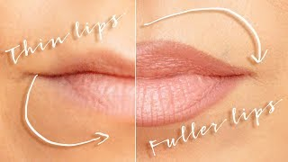 Bigger lips with makeup - no fillers