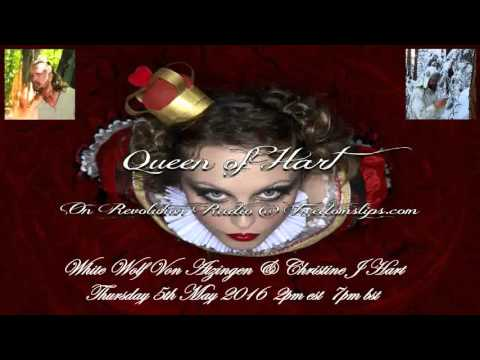 Queen of Hart Show Thursday 5th May 2016 with CIA Special Black Ops Assassin White Wolf Von Atzigen