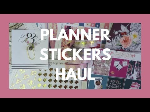 PLANNER STICKER HAUL // Nine Different Shops!