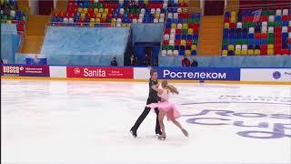 Ангелина Зимина Александр Гнедин 5 этап кубка России по фигурному катанию 2020 ритмический танец