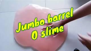 jumbo 3kg barrel O slime|Cara membuat barrel O slime,jelly slime dengan mudah