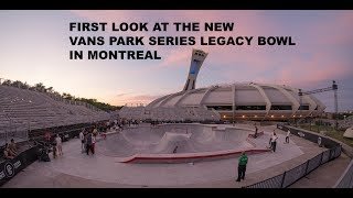 SKATEBOARD RANCH Ep:6 - First Look At The New Vans Park Series Bowl In Montreal