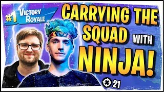 Hysteria | Fortnite Battle Royale - Carrying the Squad with Ninja, Monstcr and Fearitself