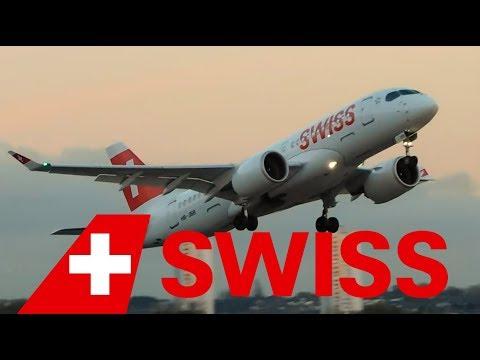 ✈ SWISS Global Airlines Bombardier CS100 HB-JBB Arrival & Departure at London City Airport