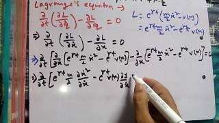 lagrange's equation of motion:csir physics classical:(8) dec 2014