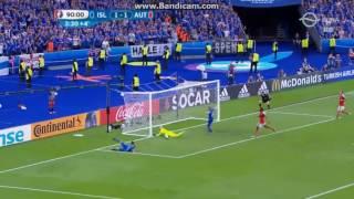 Izland 2-1 Ausztria: Traustason gól
