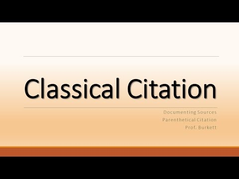 Classical Citation in Turabian/Chicago Style