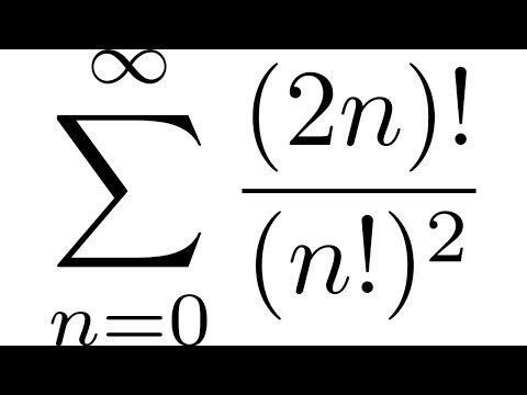 Infinite Series Convergence And Divergence Example With SUM((2n)!/(n!)^2) Ratio Test