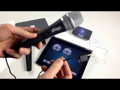 Connect a microphone to iPad and iPhone for Qusik DJ Music & Mic
