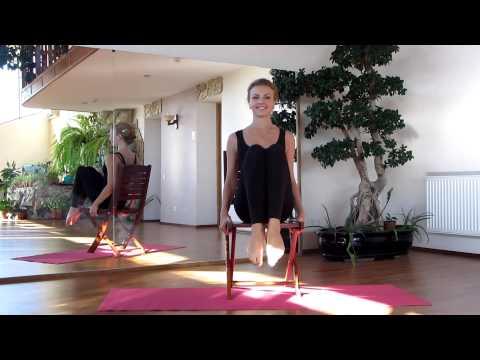Эффективная растяжка ног со стулом. Часть1. Стретчинг