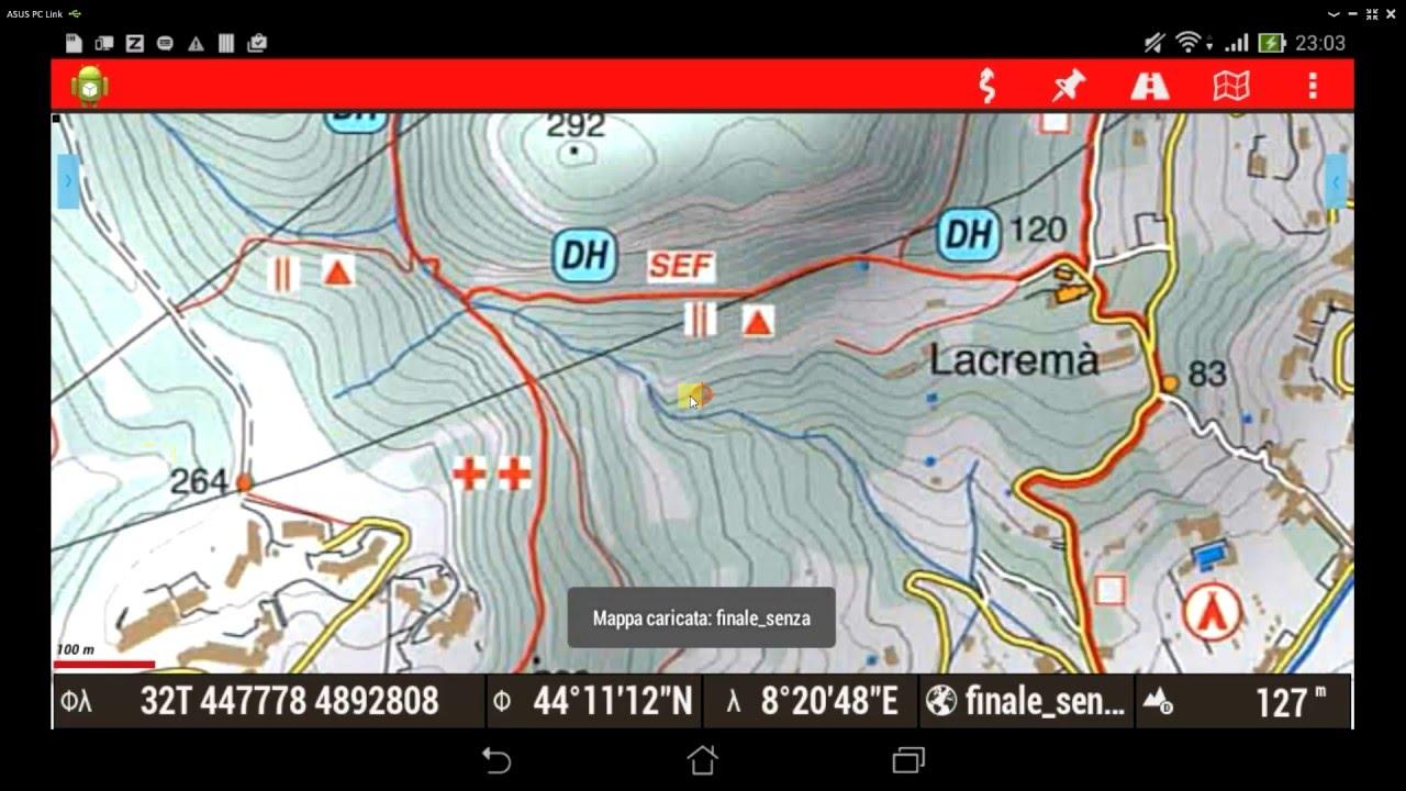 mappe offline per oruxmaps