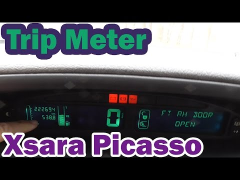 Trip Meter on Citroen Xsara Picasso