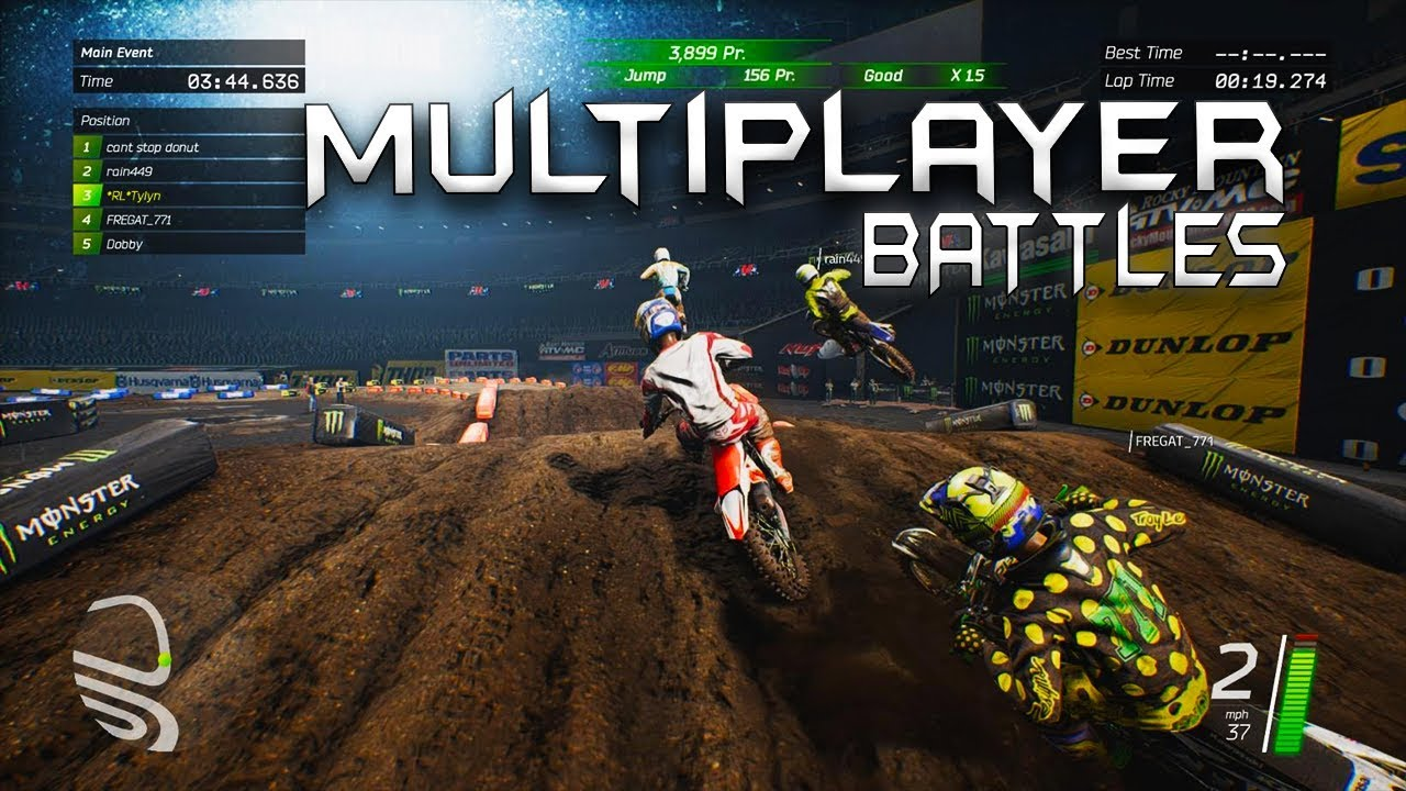 multiplayer battles monster energy supercross game youtube. Black Bedroom Furniture Sets. Home Design Ideas