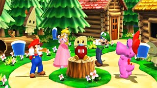 Mario Party 9 MiniGames - Mario Vs Luigi Vs Peach Vs Birdo (Master Difficulty)