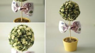 DIY: Денежное дерево. Как сделать топиарий своими руками(Создаем стильный красивый и топиарий Денежное дерево. Этот сувенир послужит отличным подарком на любой..., 2015-07-19T19:44:46.000Z)