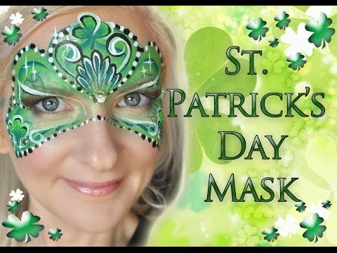 St. Patrick's Day Mask Face Painting Tutorial