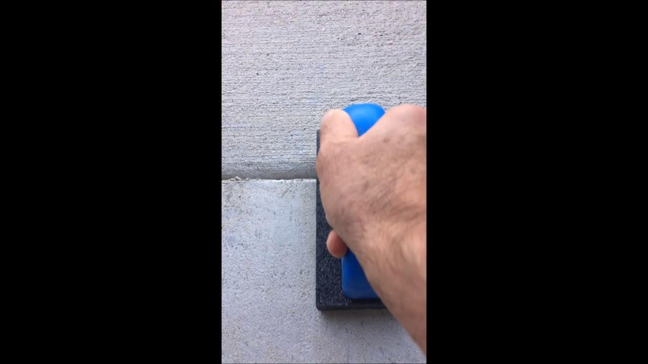 How to Remove Concrete overspray/splatter on Good Concrete!