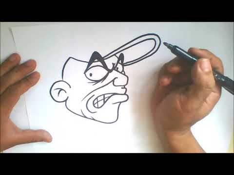 Simple character - How to Draw graffiti cartoon character thumbnail