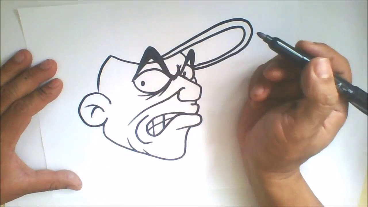 Simple Character How To Draw Graffiti Cartoon Character Youtube