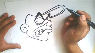Simple character - How to Draw graffiti cartoon character