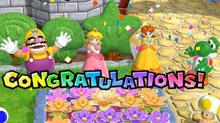 Mario Party 9 Garden Battle - Peach Vs Daisy Vs Wario Vs Yoshi| Cartoons Mee