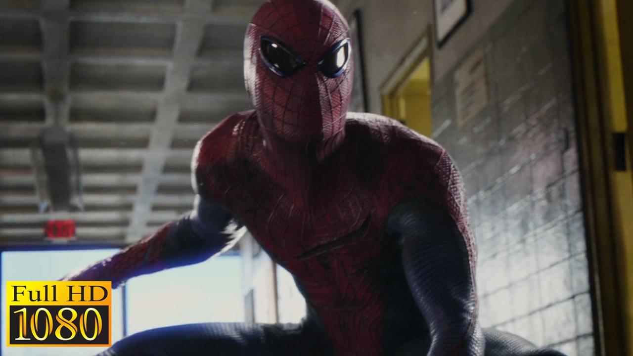 The Amazing Spiderman 2012 Spiderman Vs Lizard School Fight Scene 1080p Full Hd Youtube