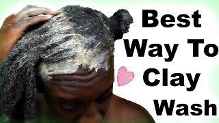 Bentonite Clay Natural Hair WASH DAY Routine | Does Bentonite Clay Clarify Natural Hair?
