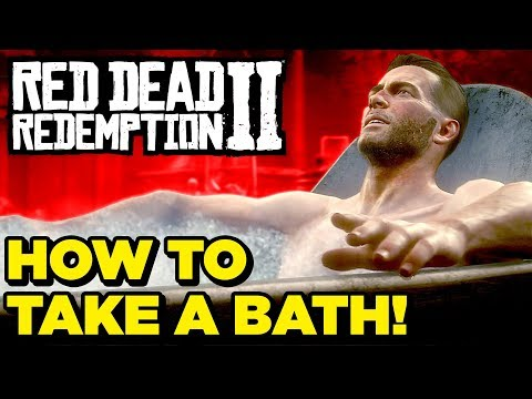Red Dead Redemption 2: How To Take A Bath, Clean Yourself & Horse! (How To / Tutorial / Walkthrough)
