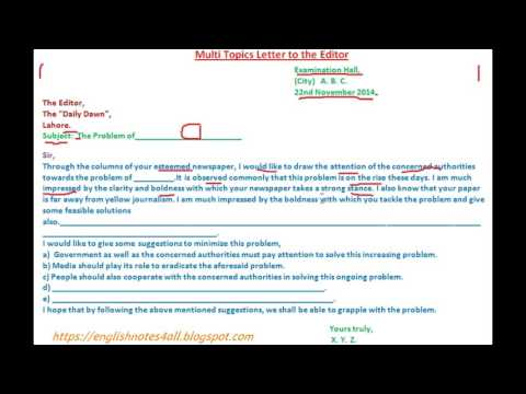 BA English How to write multi letters to Editor Lecture by Shahid Bhatti