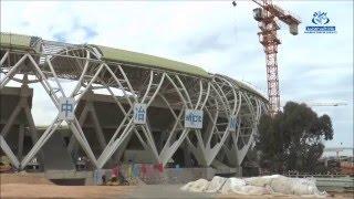 تقدم الاشغال بملعب وهران الجديد النتظر تسليمه نهاية 2016