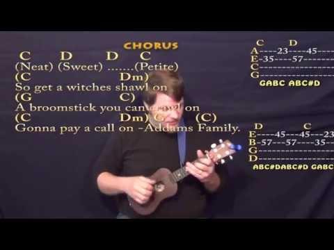 The Addams Family - Ukulele Cover Lesson with Lyrics/Chords