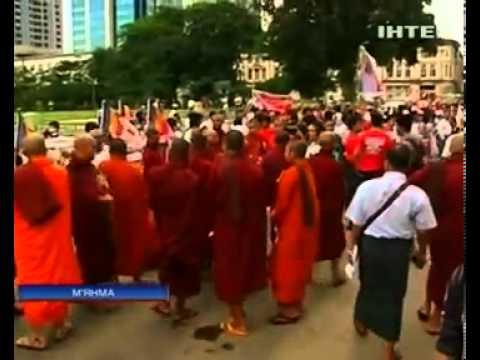 В Мьянме протестуют