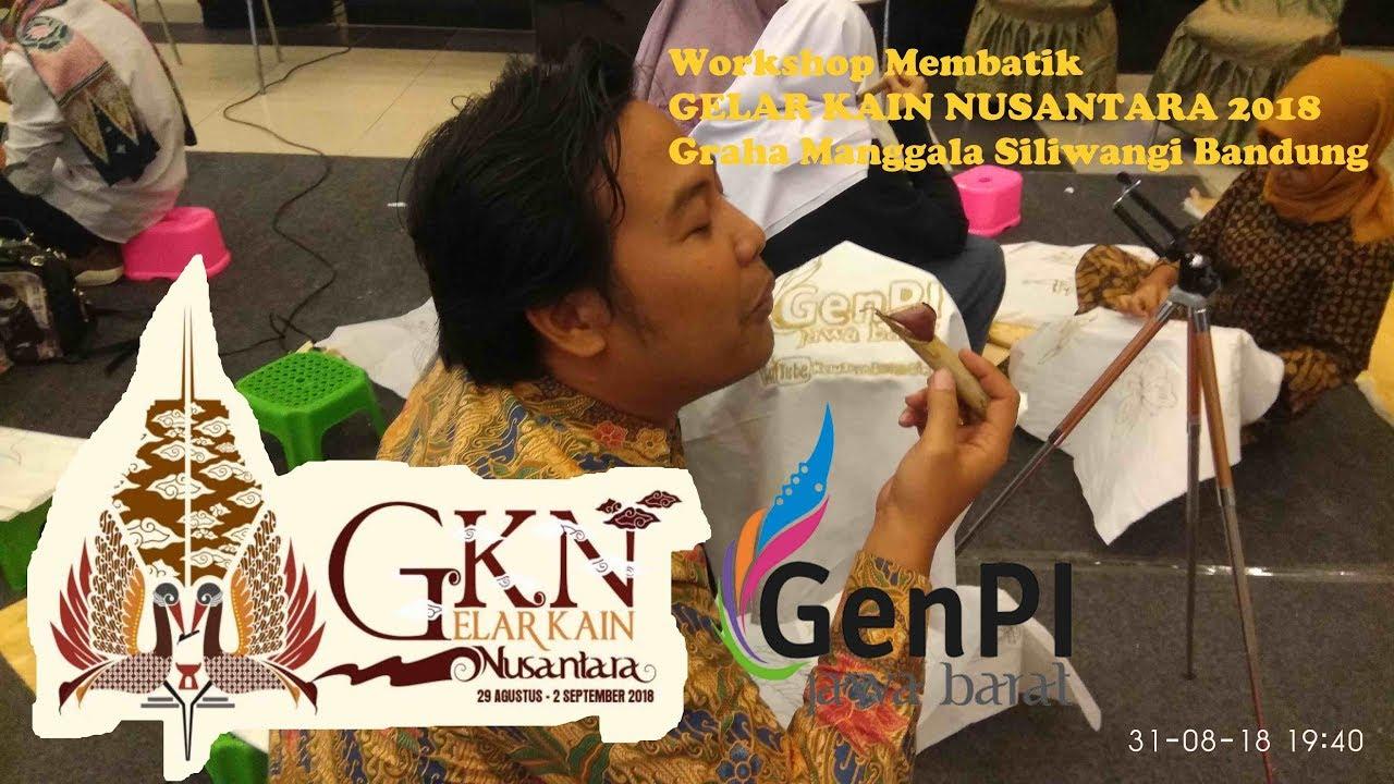Workshop membatik di GELAR KAIN NUSANTARA 2018 Graha Manggala Siliwangi Bandung