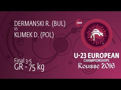 BRONZE GR - 75 kg: D. KLIMEK (POL) df. R. DERMANSKI (BUL), 3-1