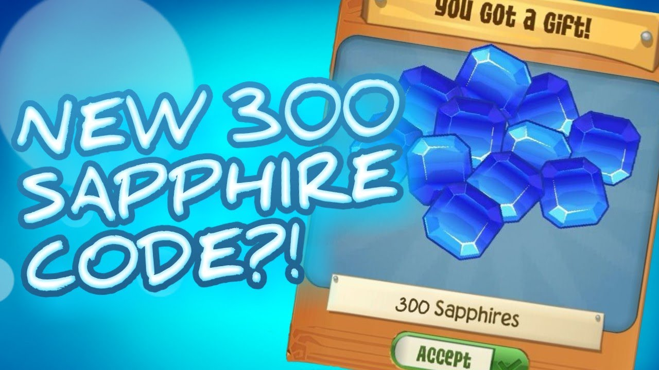 NEW 300 SAPPHIRE CODE?! ANIMAL JAM PLAY WILD HACK CHEAT CODE! WORKING!