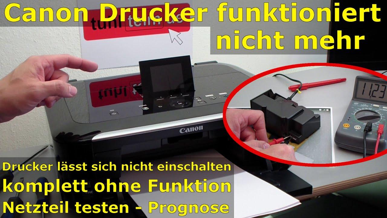 Canon Pixma Drucker Funktioniert Nicht Mehr Netzteil Druckkopf Case 530 Engine Diagram Out Of Order Check The Power Supply