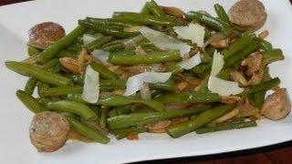 Green Beans Almondine With Italian Sausage