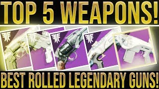 Destiny 2 Forsaken. TOP 5! (My Best Rolled Weapons & How To Get Them) Unlimited Mod Components!