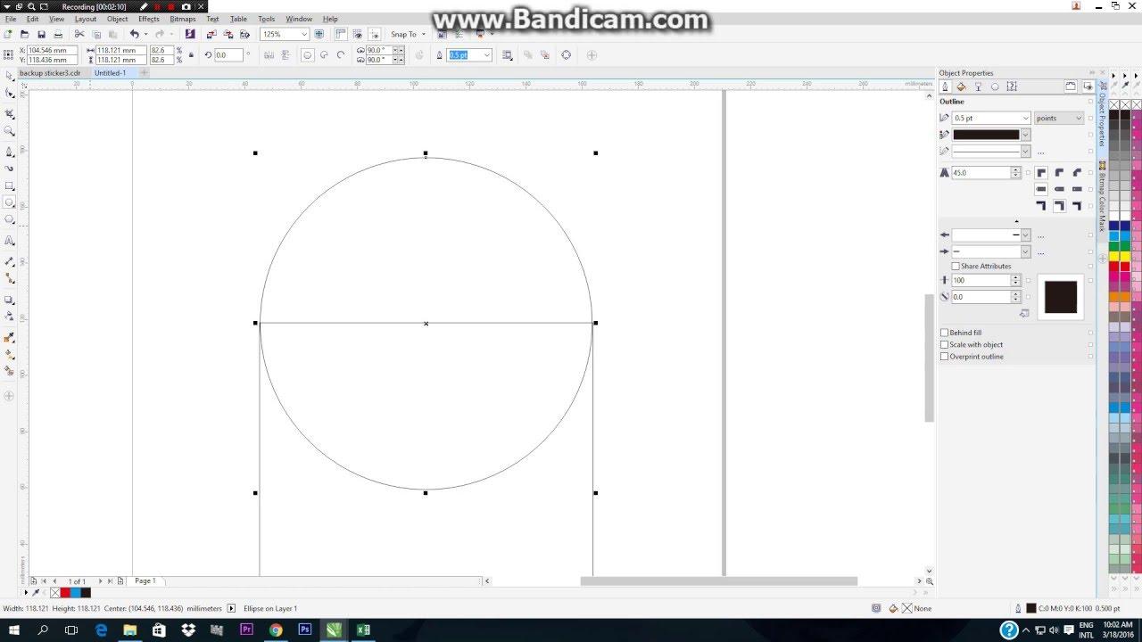 Cara Menggabung Memotong Dan Seleksi Objek Corel Draw X7 Youtube