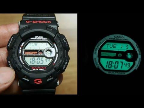 Casio G-shock Gulfman G-9100-1 *UNBOXING + LIGHT DEMO