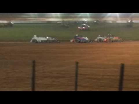 Stephen Schnapf Flip Sprint Car Heat 3 Bloomington Speedway
