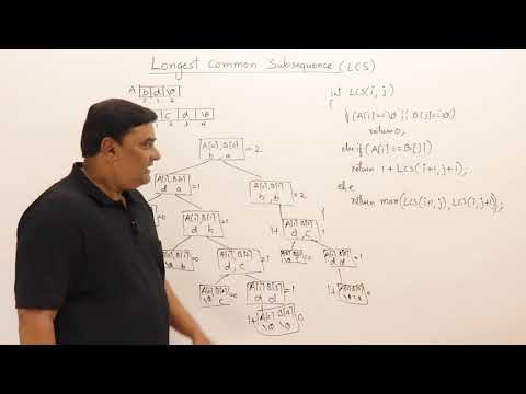 4.9 Longest Common Subsequence (LCS)  - Recursion and Dynamic Programming