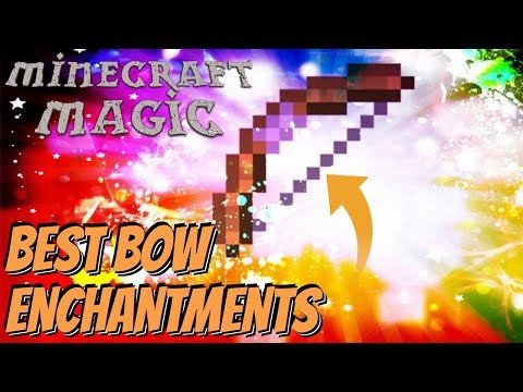 All The Enchantments To Make A GOD Bow In Minecraft: Enchanted Bow Enchantments Minecraft 1.14.4