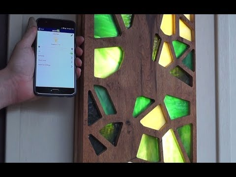 Oak, Glass, and Bluetooth. My awesome porch light