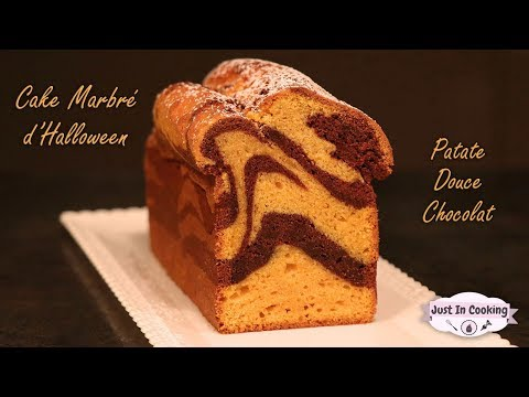 recette-de-cake-marbré-d'halloween-patate-douce-et-chocolat